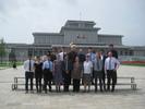 Group photo at Kumsusan Palace of the Sun