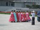 Locals posing at Kumsusan